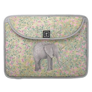 Funda Para MacBook Pro Brillo del oro de las flores del elefante de la