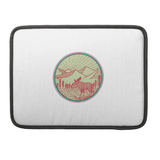 Funda Para MacBook Pro Círculo de Sun de las montañas del río de los