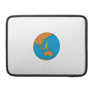 Funda Para MacBook Pro Corredor de maratón que corre alrededor del mundo
