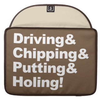 Funda Para MacBook Pro Driving&Chipping&Putting&Holing (blanco)