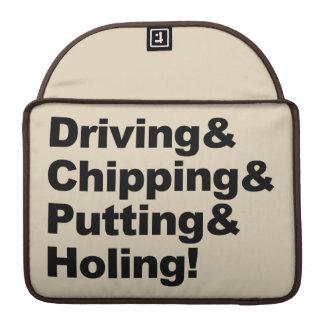 Funda Para MacBook Pro Driving&Chipping&Putting&Holing (negro)