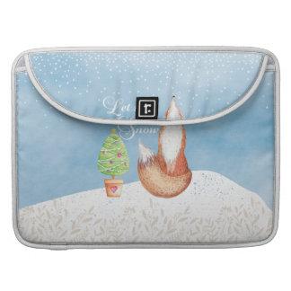 Funda Para MacBook Pro El Fox festivo lindo lo dejó nevar