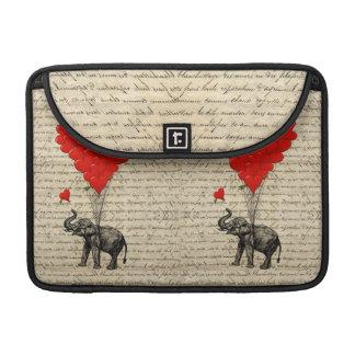 Funda Para MacBook Pro Elefante y globos en forma de corazón
