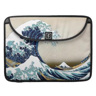 Funda Para MacBook Pro Gran onda restaurada de Kanagawa cerca