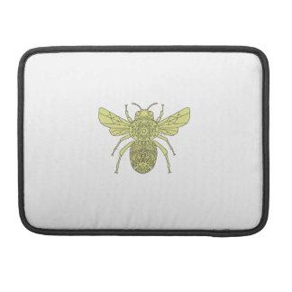 Funda Para MacBook Pro Manosee la mandala de la abeja