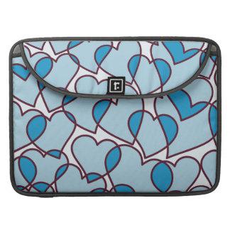 Funda Para MacBook Pro Modelo azul moderno lindo de los corazones