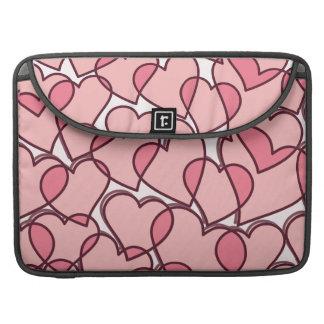Funda Para MacBook Pro Modelo rosado moderno lindo de los corazones