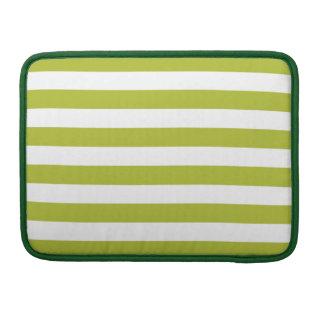 Funda Para MacBook Pro Modelo verde y blanco de la raya