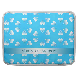 Funda Para MacBook Pro Pequeños corazones azules bonitos. Añada su propio