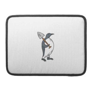 Funda Para MacBook Pro Pingüino de emperador que sostiene el dibujo de la