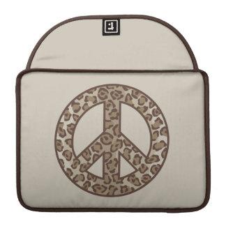 Funda Para MacBook Pro Símbolo de paz del leopardo