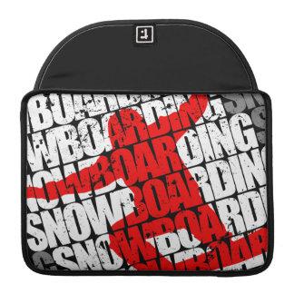 Funda Para MacBook Pro Snowboard #1 (blanca)