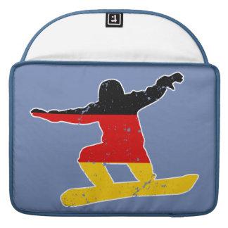 Funda Para MacBook Pro SNOWBOARDER alemán de la bandera (blanco)