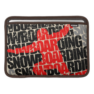 Funda Para MacBook Snowboard #1 (negro)
