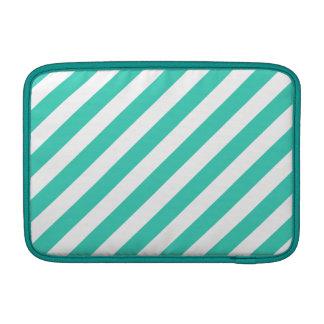 Funda Para MacBook Trullo y modelo diagonal blanco de las rayas