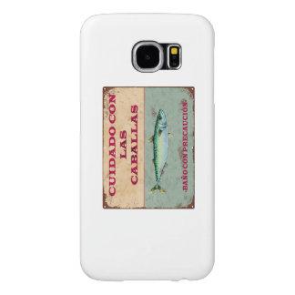 Funda para Movil Cartel Antiguo Vintage Caballas Fundas Samsung Galaxy S6