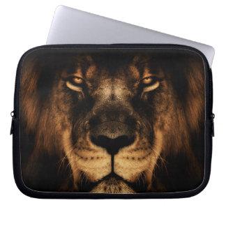 Funda Para Ordenador Arte africano de la cara del león