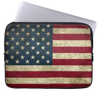 Funda Para Ordenador Bandera americana del Grunge