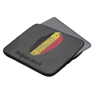 Funda Para Ordenador Bandera belga de la huella dactilar del tacto