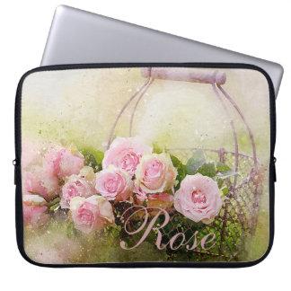 Funda Para Ordenador Cesta color de rosa rosada