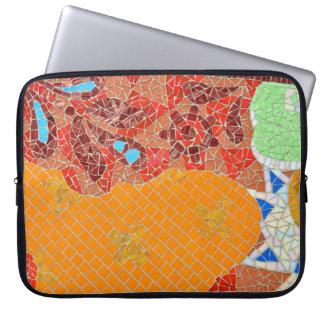 Funda Para Ordenador el faience de las tejas de mosaico roto junta las