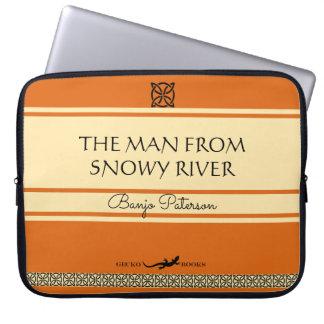 Funda Para Ordenador El hombre de la cubierta de libro retra del río