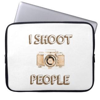 Funda Para Ordenador fotógrafo divertido de la cámara de la foto del