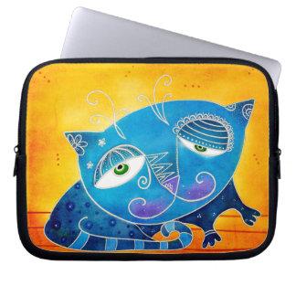 Funda Para Ordenador Gato azul