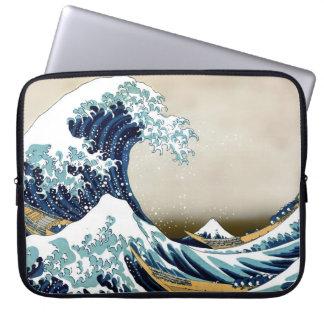 Funda Para Ordenador Gran onda restaurada de Kanagawa por Hokusai