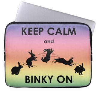 Funda Para Ordenador Guarde la calma y Binky en la manga del ordenador