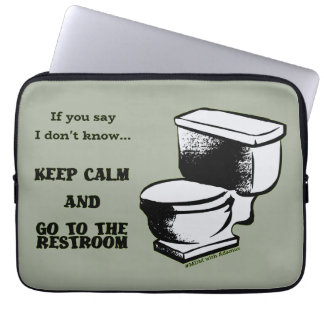Funda Para Ordenador Guarde la calma y vaya a las mangas del lavabo