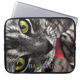 Funda Para Ordenador HAMbWG que lame el gatito - mangas del ordenador