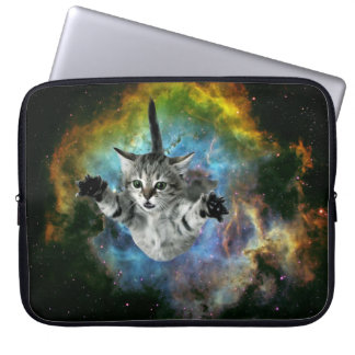 Funda Para Ordenador Lanzamiento del gatito del universo del gato de la