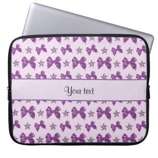 Funda Para Ordenador Lazos de satén púrpuras hermosos