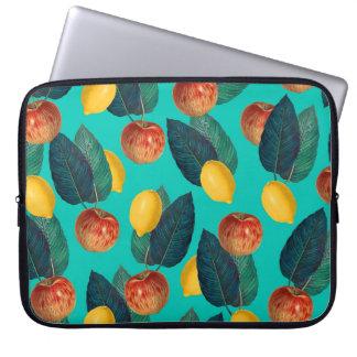 Funda Para Ordenador manzanas y limones verde azulados