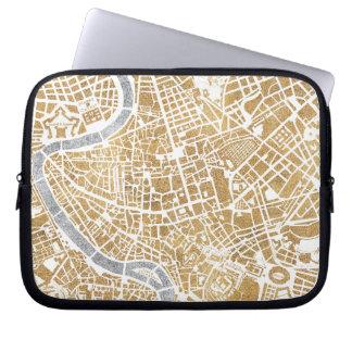 Funda Para Ordenador Mapa dorado de la ciudad de Roma