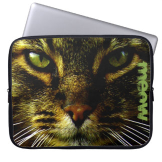 Funda Para Ordenador Mascota del gato que hipnotiza el texto de la foto