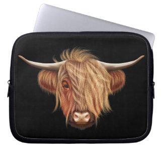 Funda Para Ordenador Retrato ilustrado del ganado de la montaña