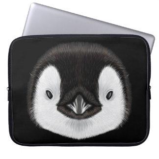 Funda Para Ordenador Retrato ilustrado del polluelo del pingüino de