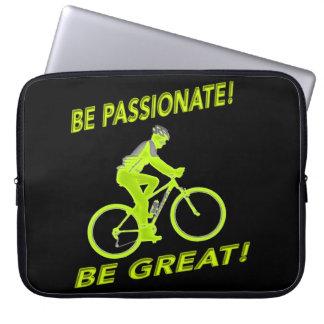Funda Para Ordenador ¡Sea apasionado! ¡Sea grande! Verde del motorista