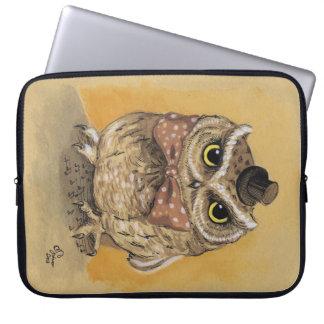 Funda Para Ordenador Señor apuesto Owl Illustration Laptop Case del