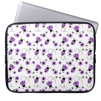 Funda Para Ordenador Señora púrpura Bug Floral Teen Girl de la