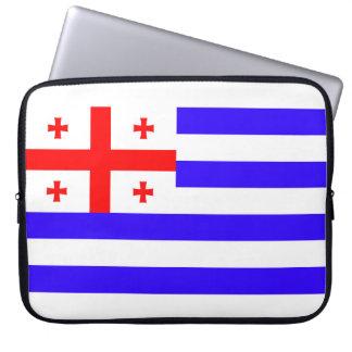 Funda Para Ordenador Símbolo Georgia de la bandera de la república de