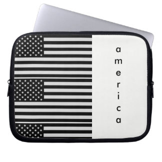 Funda Para Ordenador Tableta de América/caja blancos y negros del