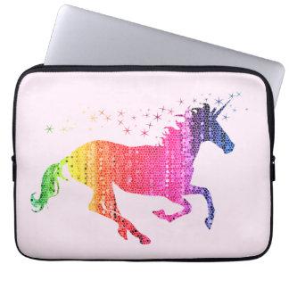 Funda Para Ordenador Unicornio del rosa de arco iris