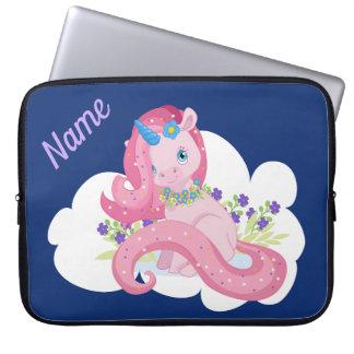 Funda Para Ordenador Unicornio rosado lindo personalizado