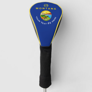 Funda Para Palo De Golf Personalizó su bandera del estado de Montana del