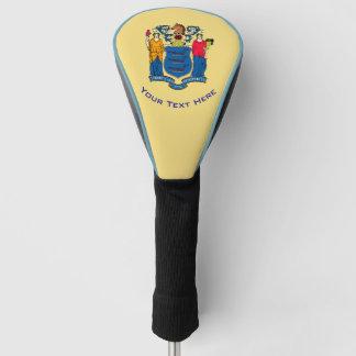 Funda Para Palo De Golf Personalizó su bandera del estado de New Jersey
