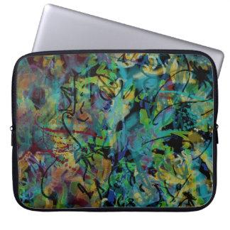 Funda Para Portátil Arte abstracto garabateado multicolor