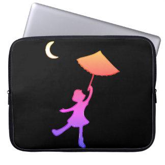 Funda Para Portátil Baile del chica con su paraguas